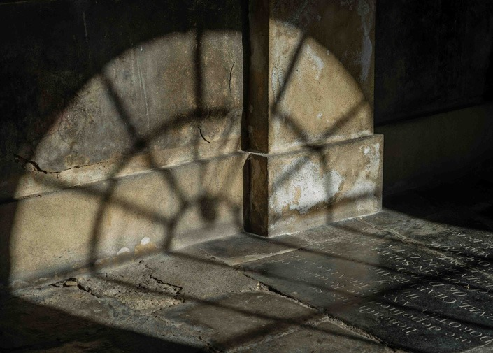 Shadows in The Charterhouse cloister