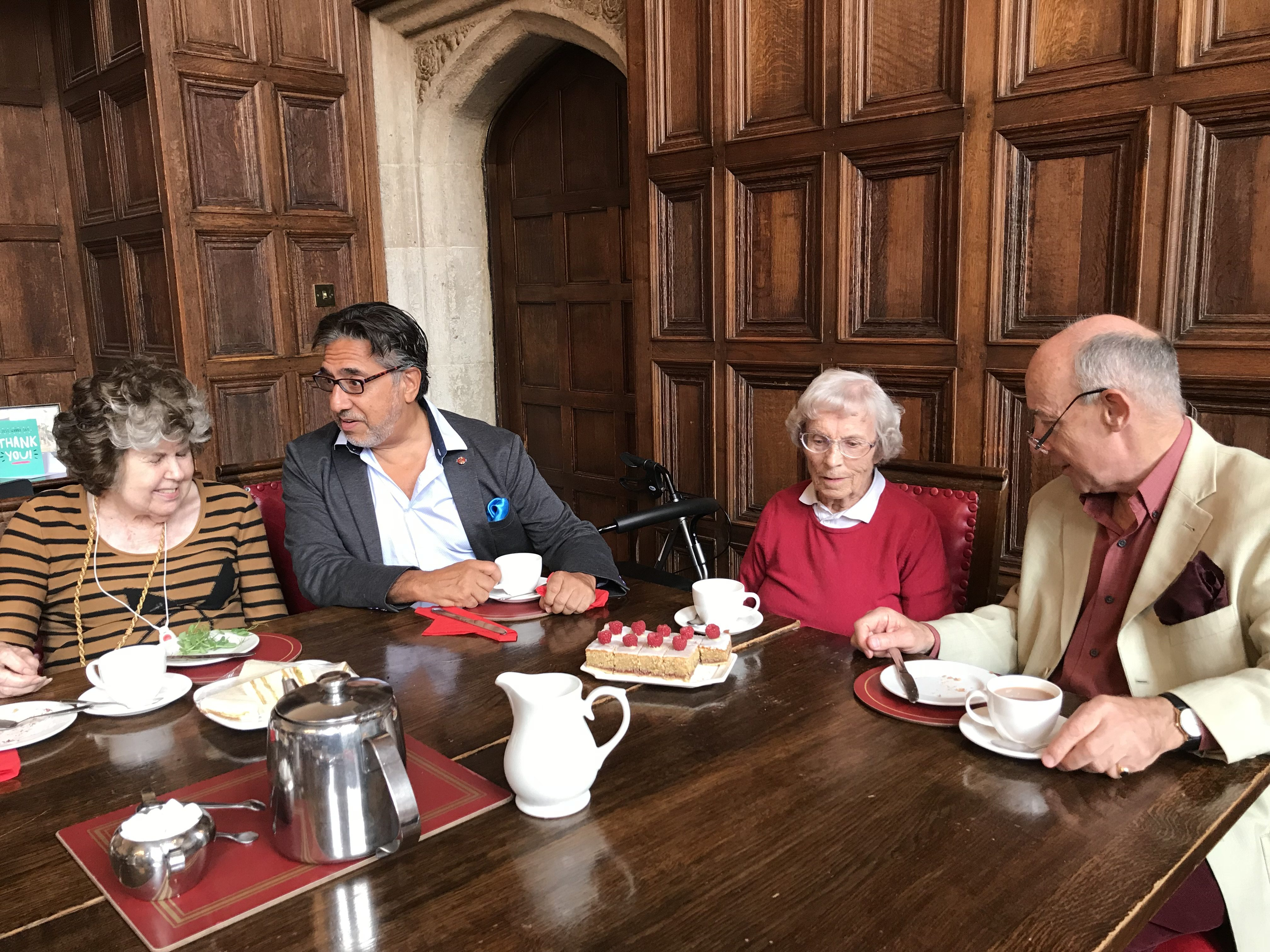 Brothers at tea in th Great Hall